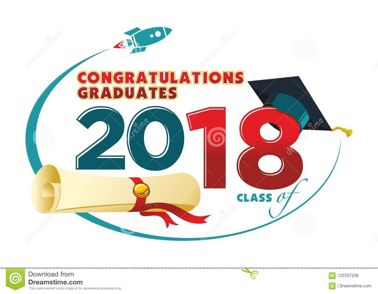 congratulations graduates card stock vector illustration of 2018
