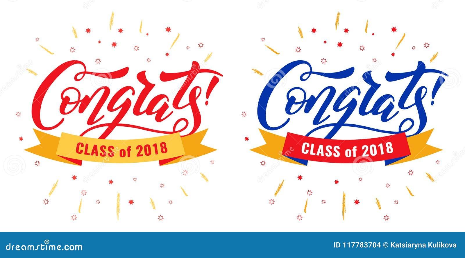 Congrats Graduates Class Stock Vector Illustration Of Greeting