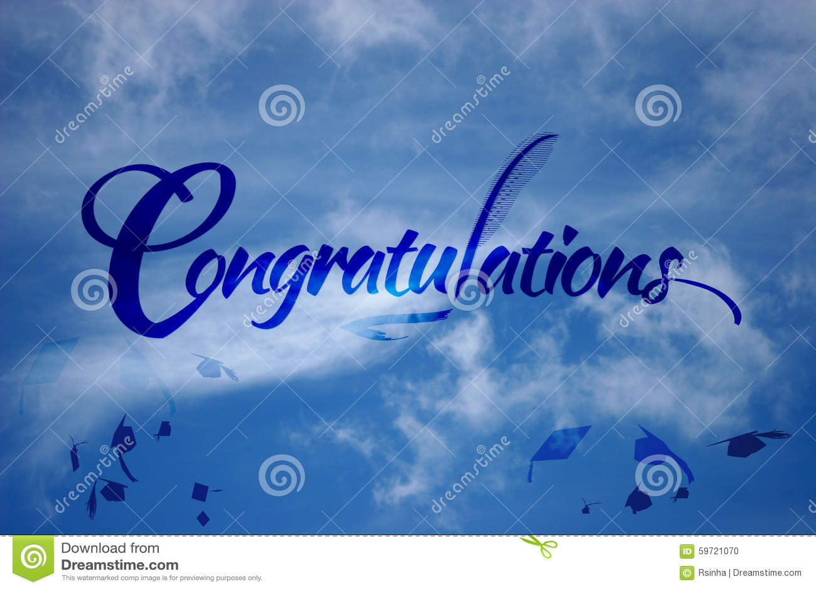 congratulations graduation stock illustration
