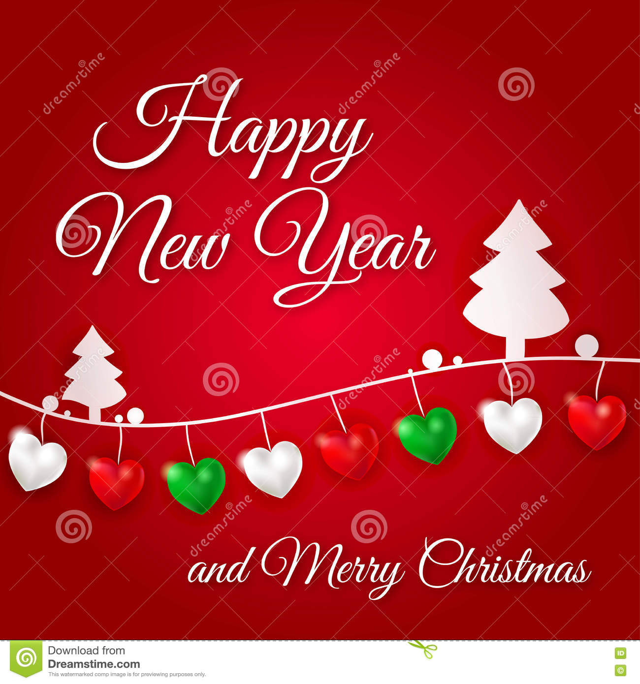 Congratulations On A Happy New Year And Merry Christmas Garland Of