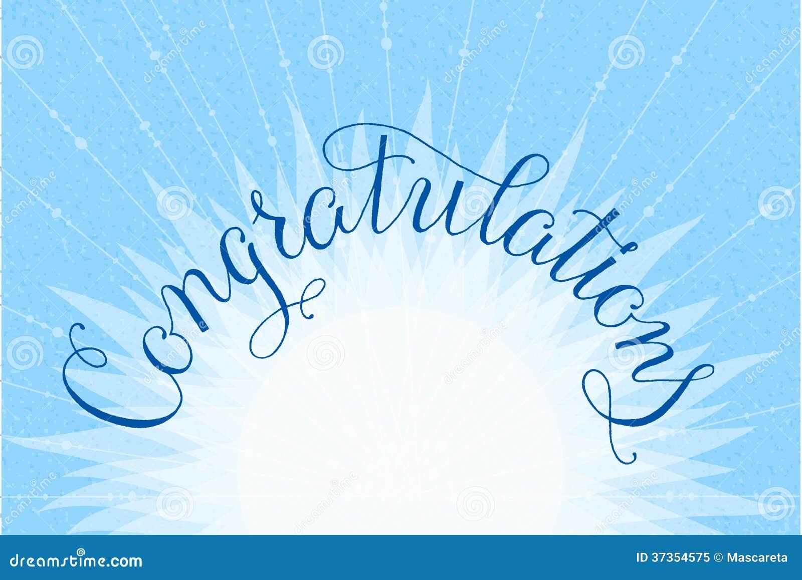Congratulations Lettering Illustration Hand Stock Vector