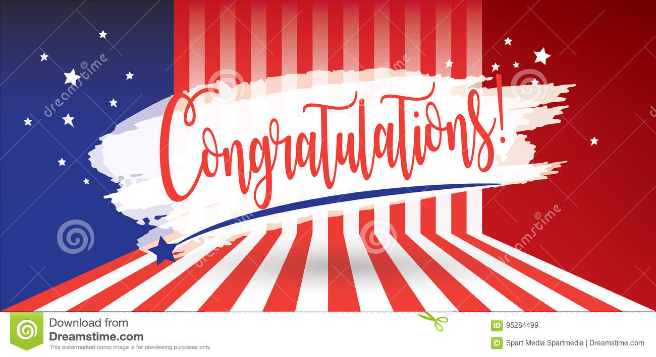 Congratulations patriotic banner stock vector illustration of congratulations patriotic banner kristyandbryce Image collections