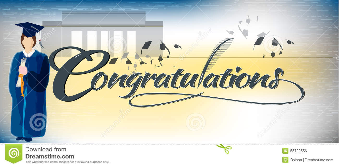 congratulations text banner stock vector illustration of