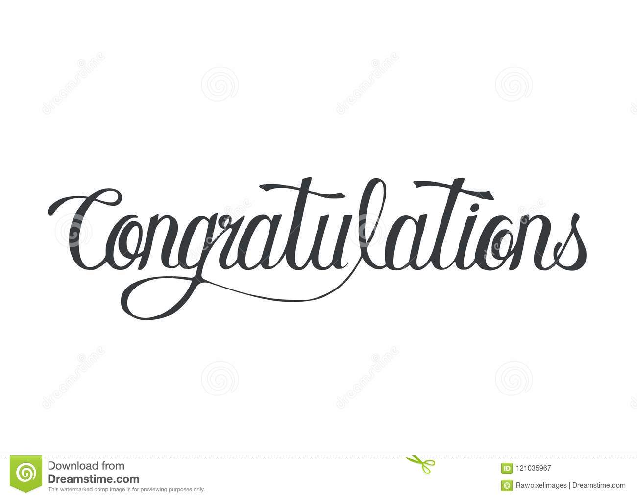 congratulations word isolated stock illustrations  u2013 1 477