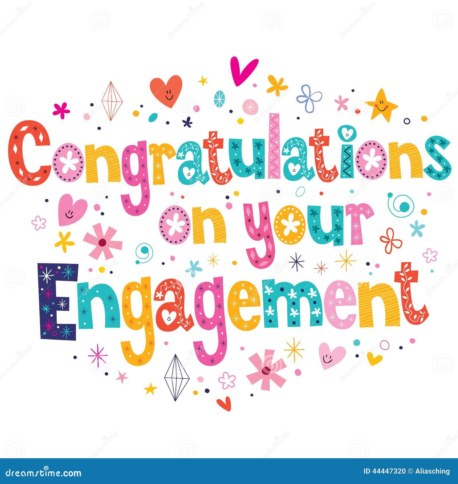 Engagement Congrats Clipart
