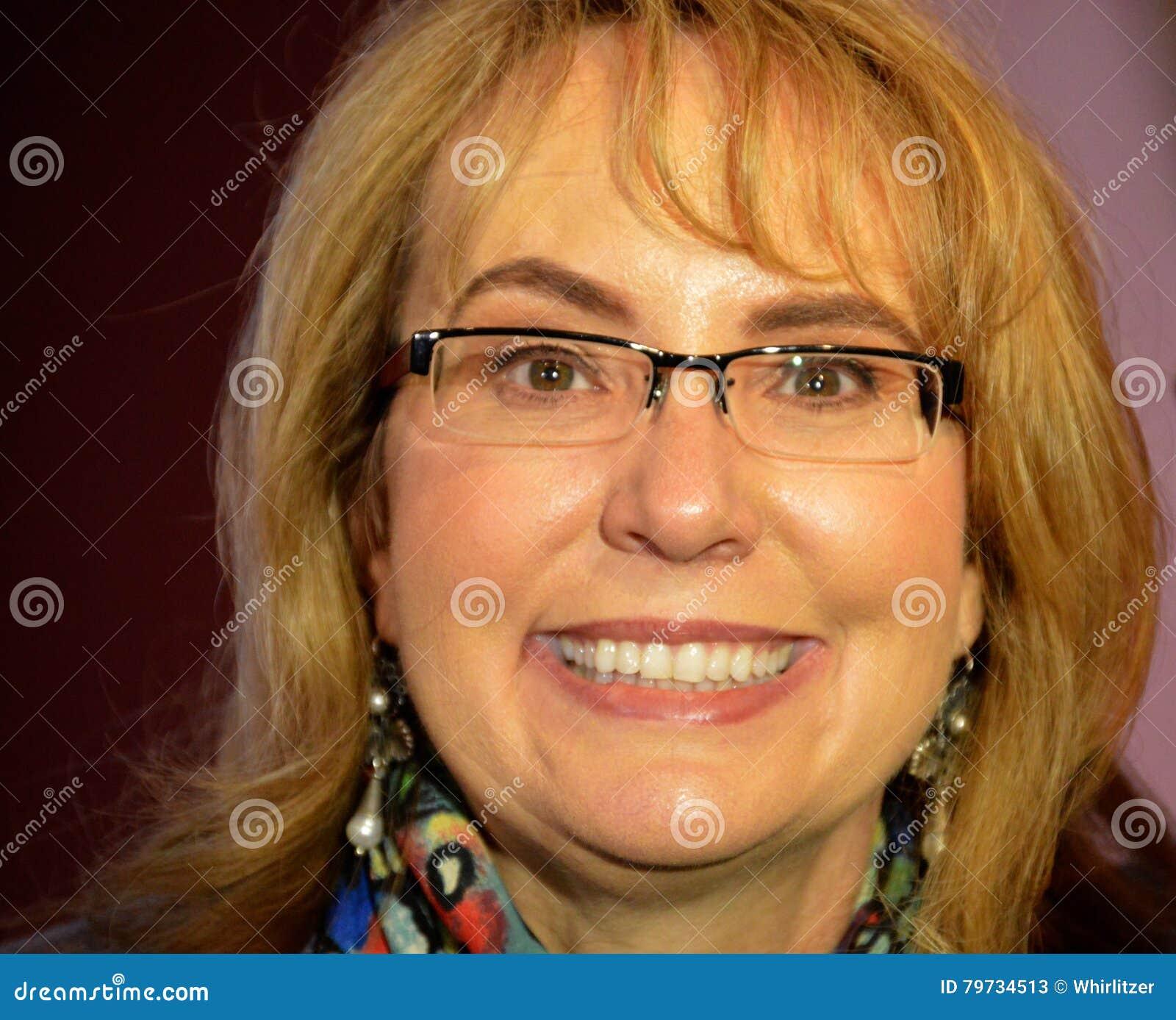 Congresista Gabrielle Giffords Close Up