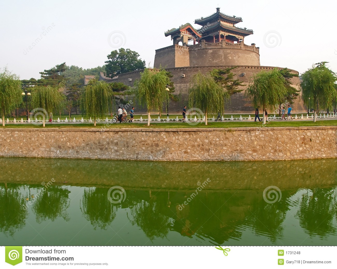 Handan China  City pictures : CongTai Park In Historical City Handan China Royalty Free Stock Photos ...