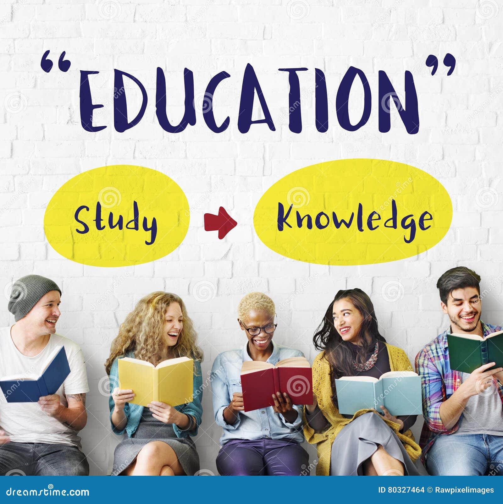 Conhecimento da educação que estuda aprendendo o conceito da inteligência