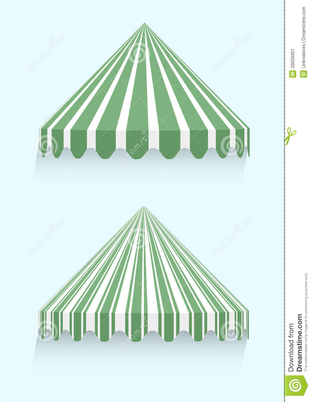 Conical Awnings Stock Vector Illustration Of Canvas