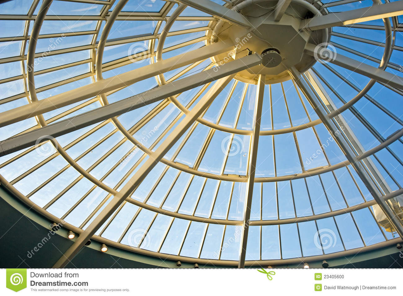 Conical Glass Roof Stock Photo Image 23405600