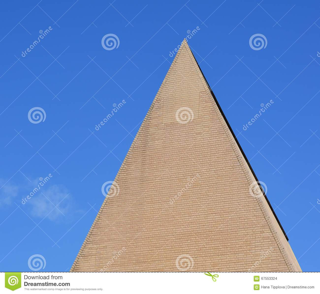 Conical roof of a brick, The parliament building, Vaduz