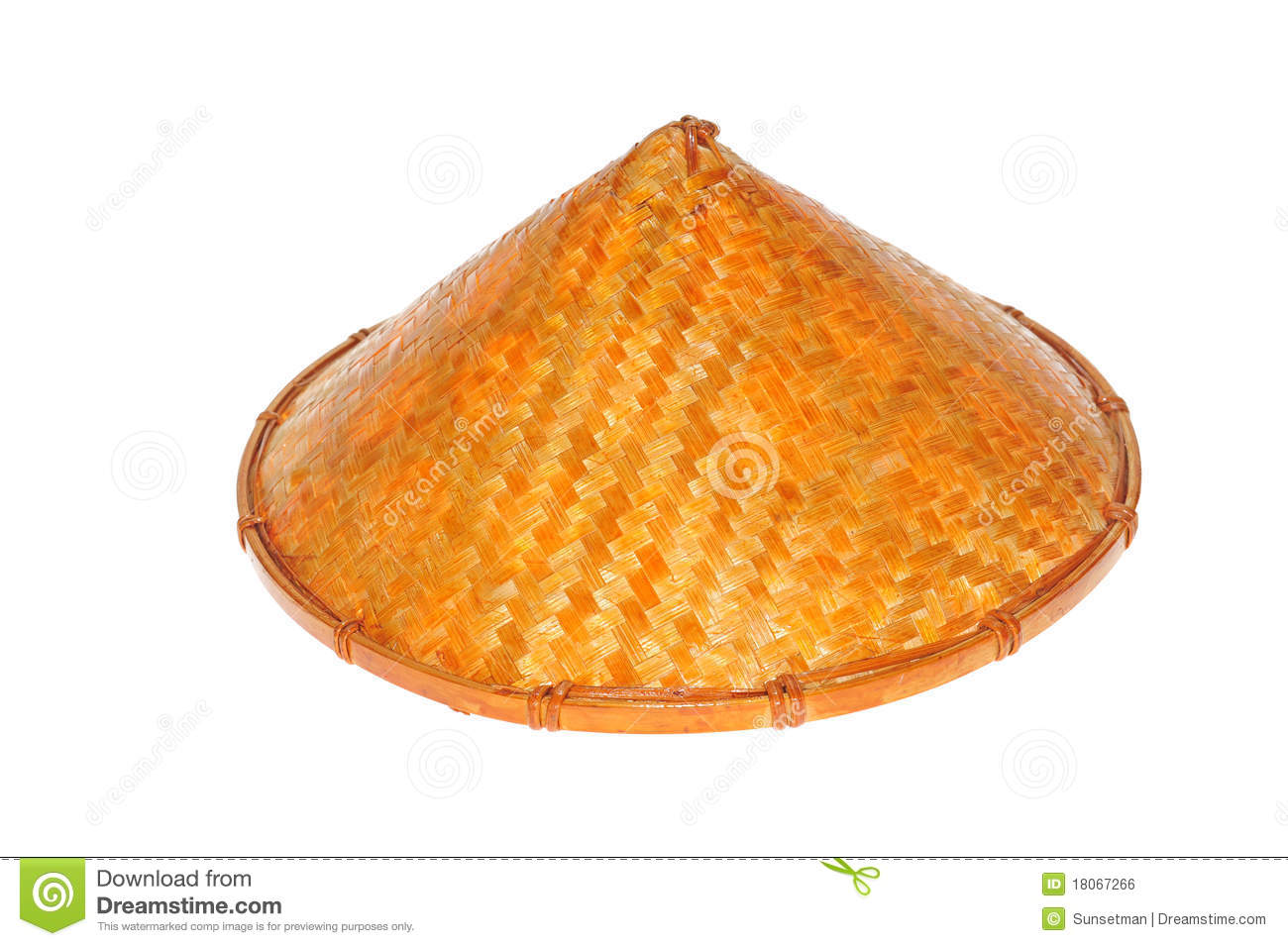 Conical Straw Hat Royalty Free Stock Image Image 18067266