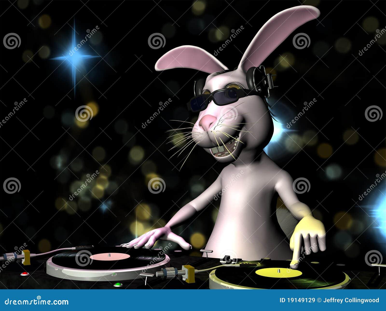 Coniglietto di pasqua DJ