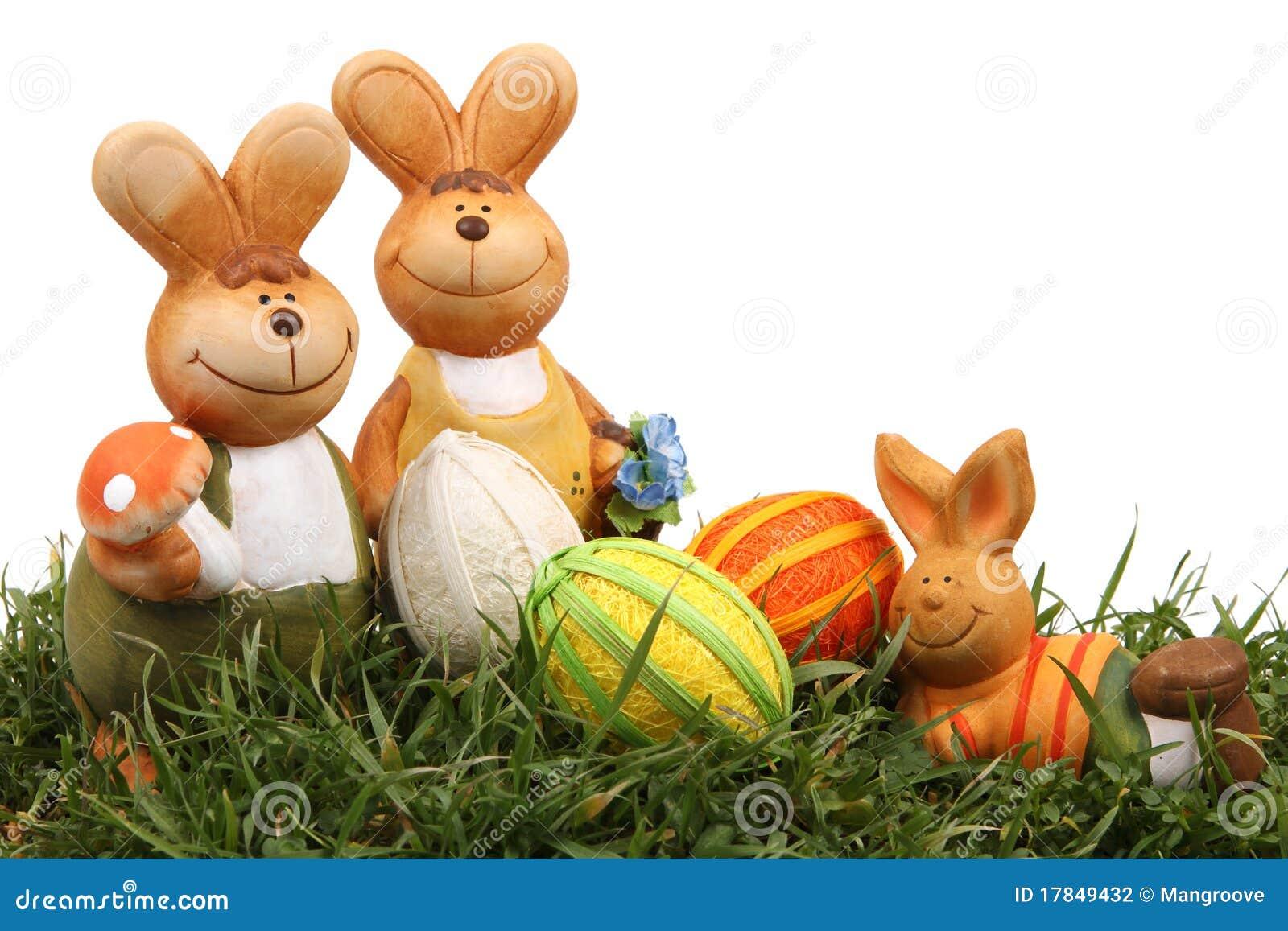 Coniglietto ed uova di pasqua
