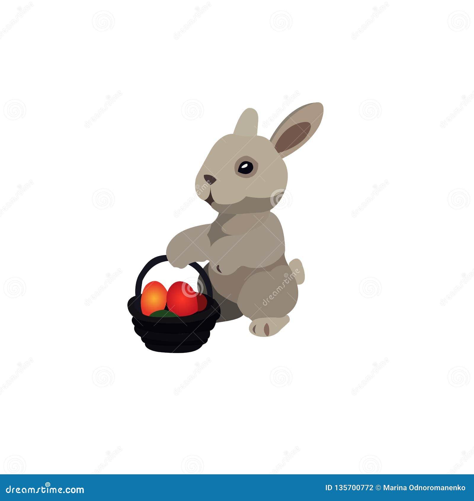 Coniglietto orientale illustrazione Coniglietto del fumetto di vettore