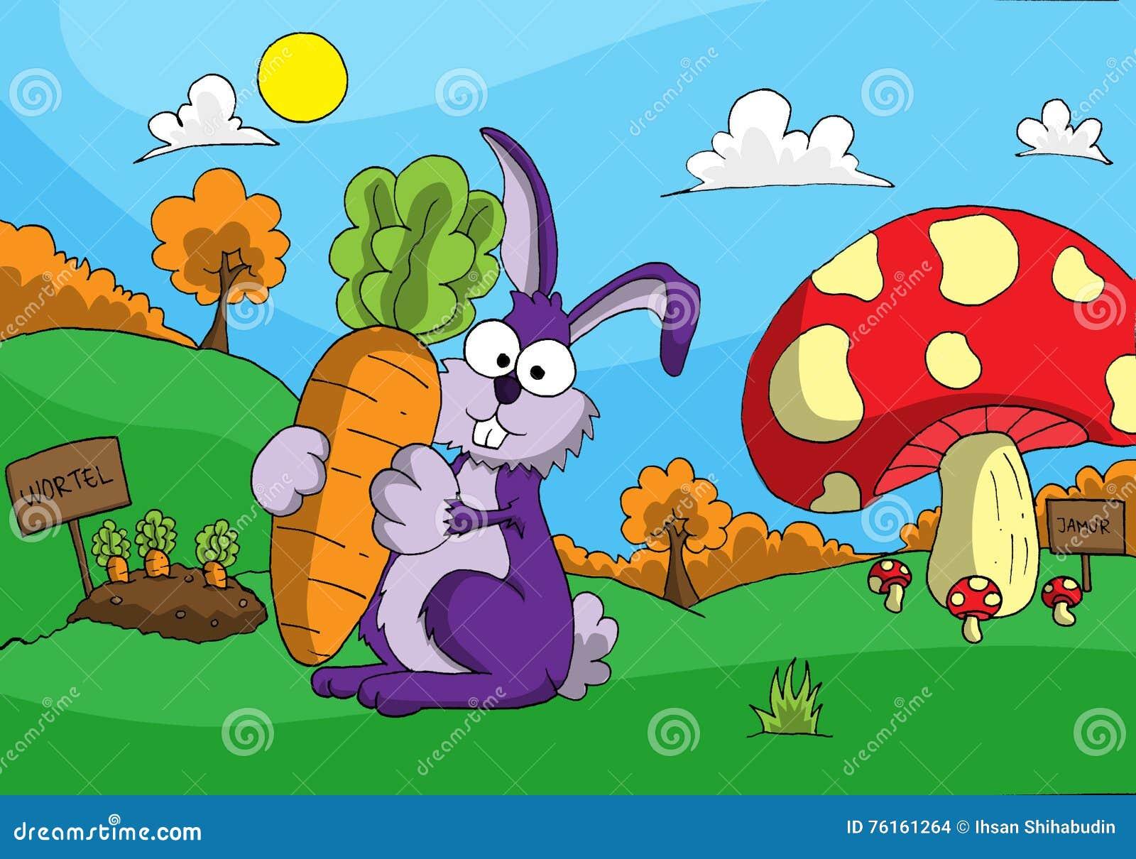 Coniglio e la carota enorme