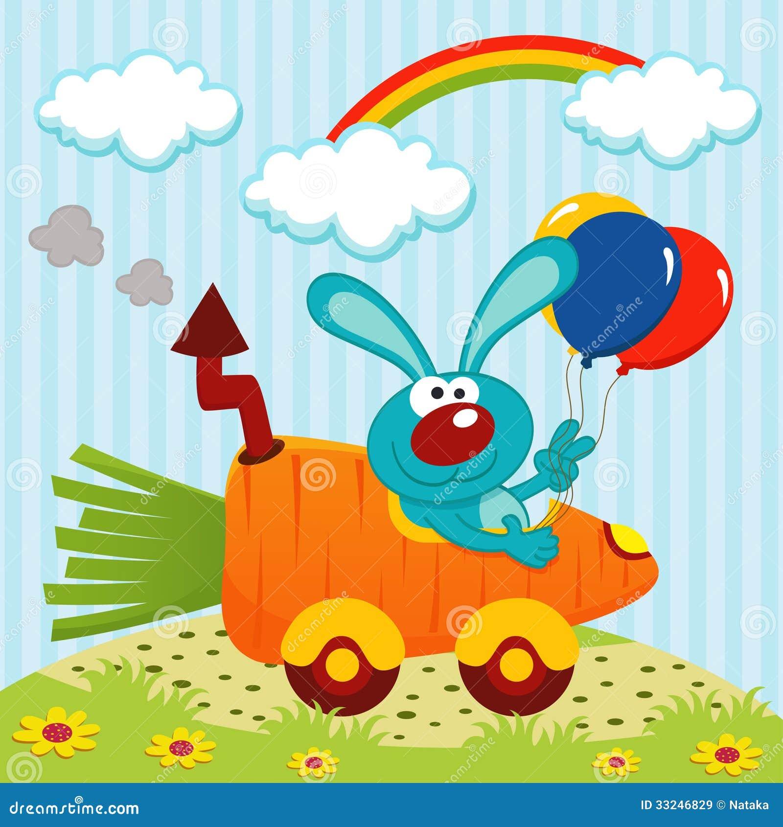 Coniglio in macchina dalle carote