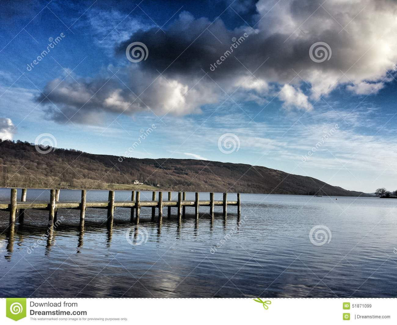Coniston United Kingdom  city photos gallery : Old jetty at Lake Coniston, Lake District, United Kingdom, peace ...