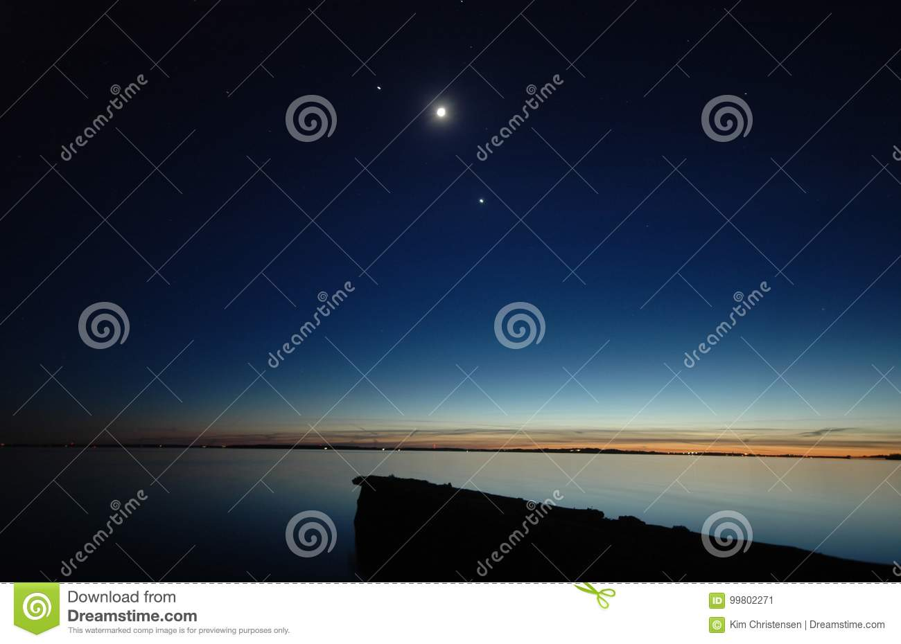 Planet Conjunction stock image  Image of planet, water