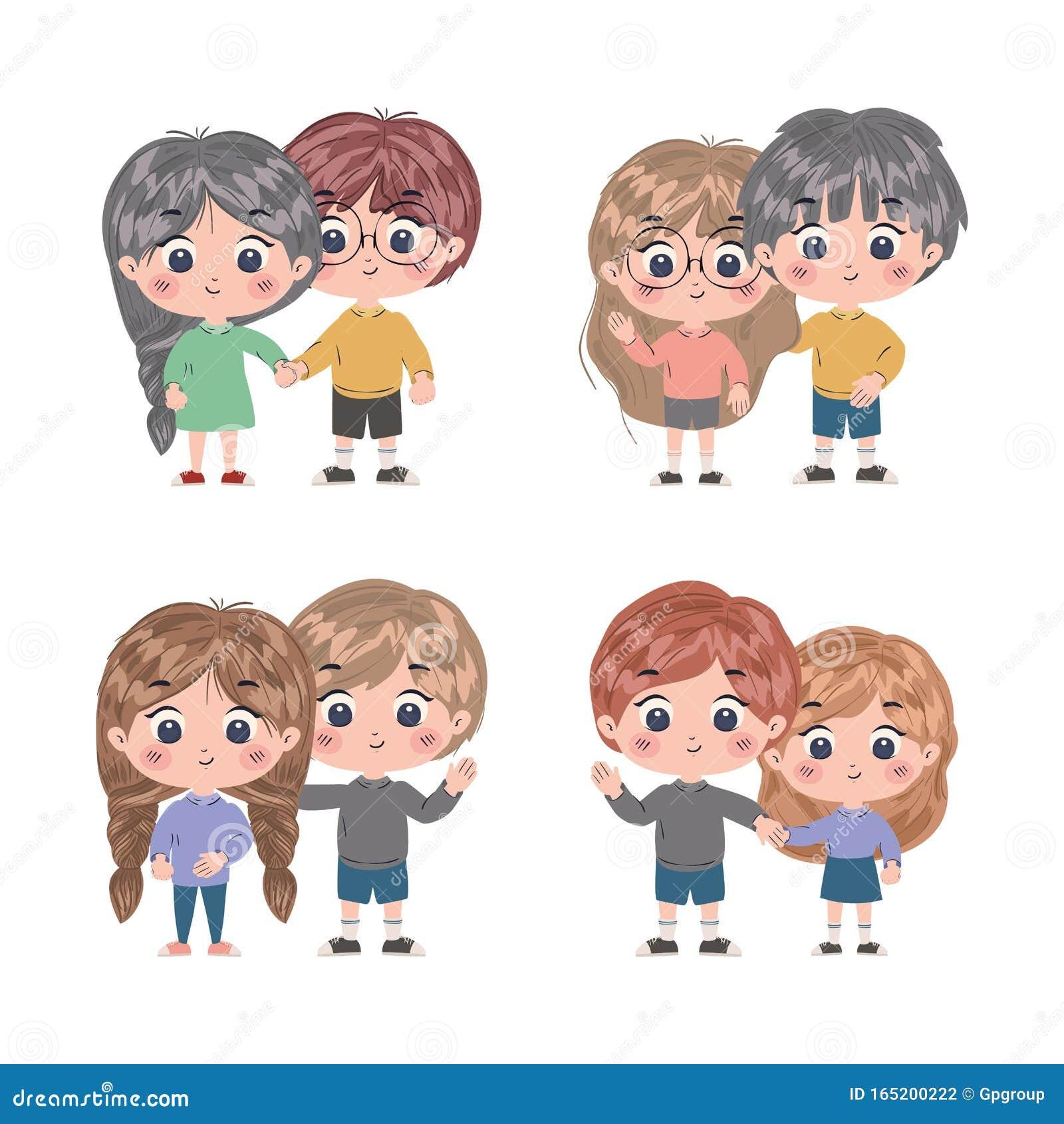 Conjunto Aislado De Dibujos Animados Para Niños Diseño Vectorial Ilustración Del Vector Ilustración De Conceptual Lifestyle 165200222