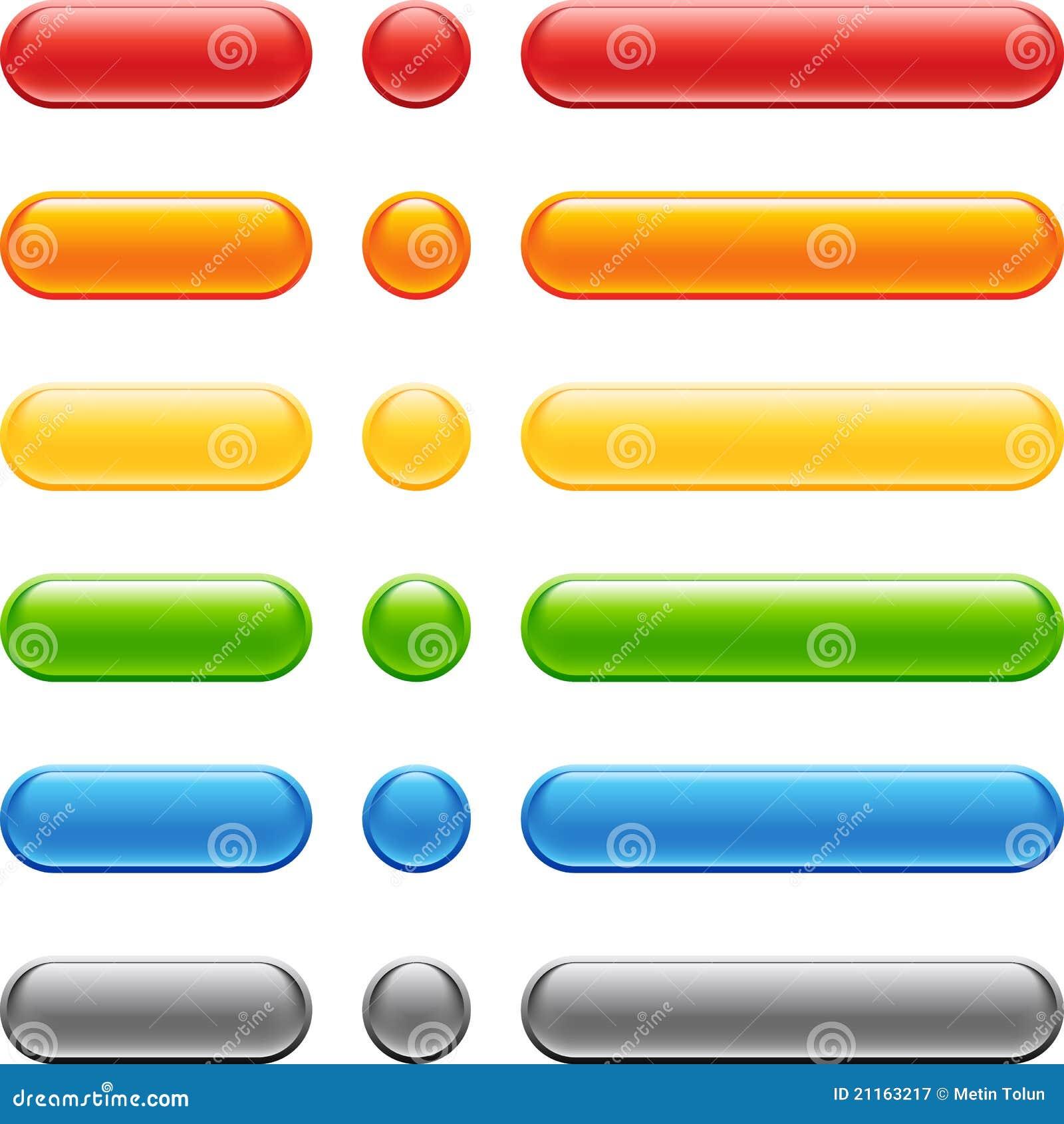 Conjunto coloreado del botón del Web