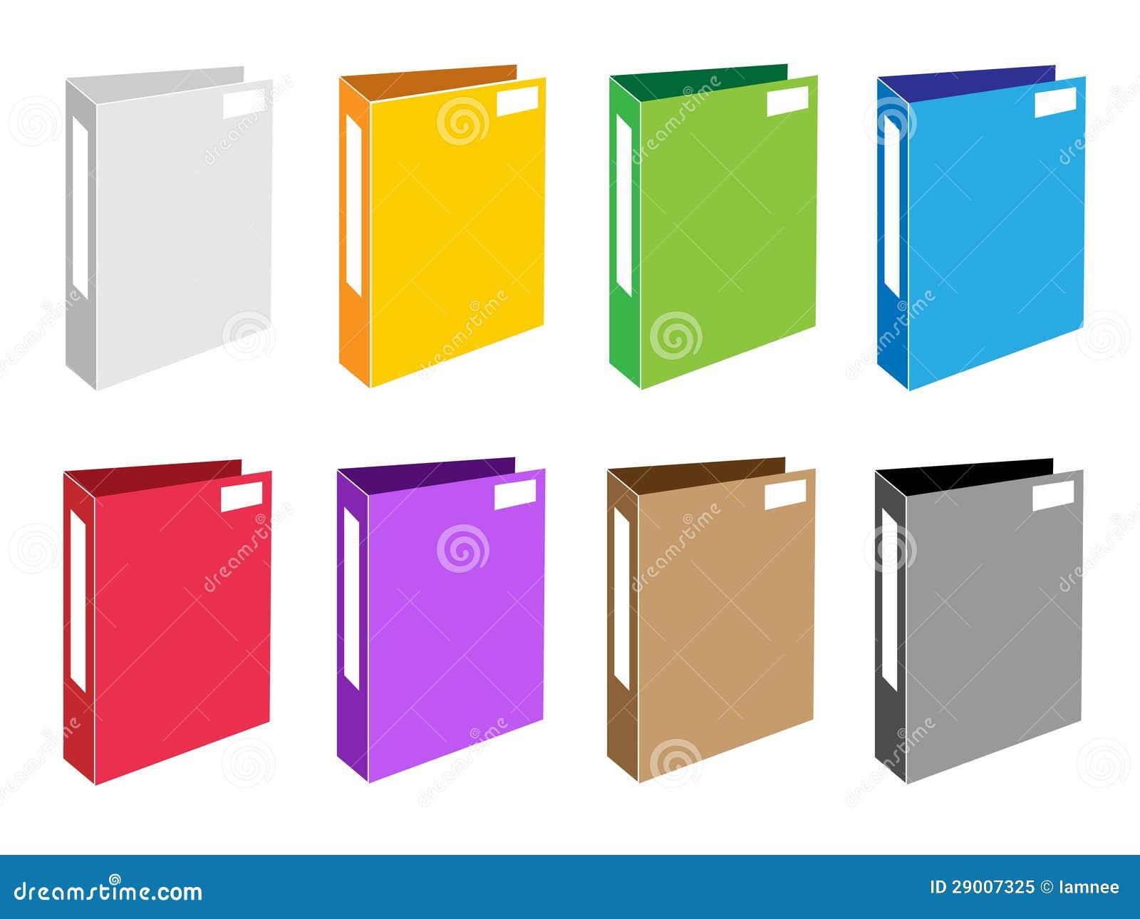 Conjunto colorido del ejemplo de iconos de la carpeta de for Carpetas para oficina
