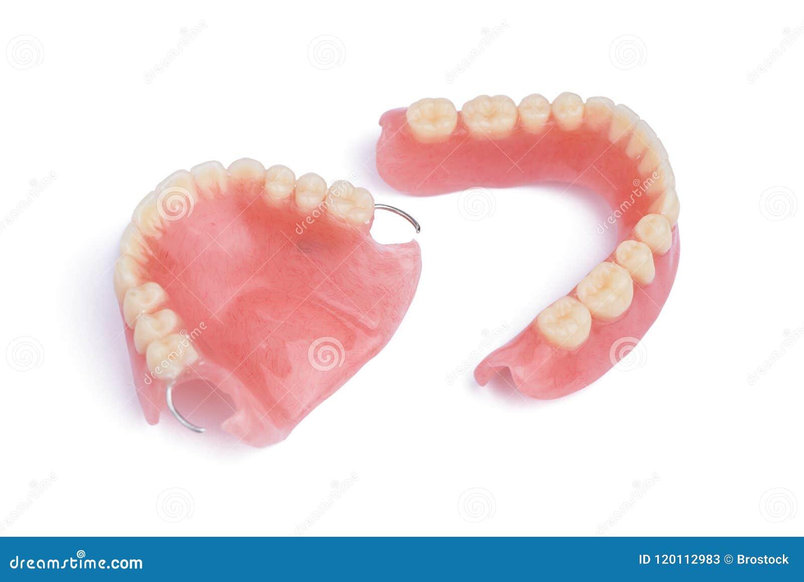 Conjunto completo de dientes falsos