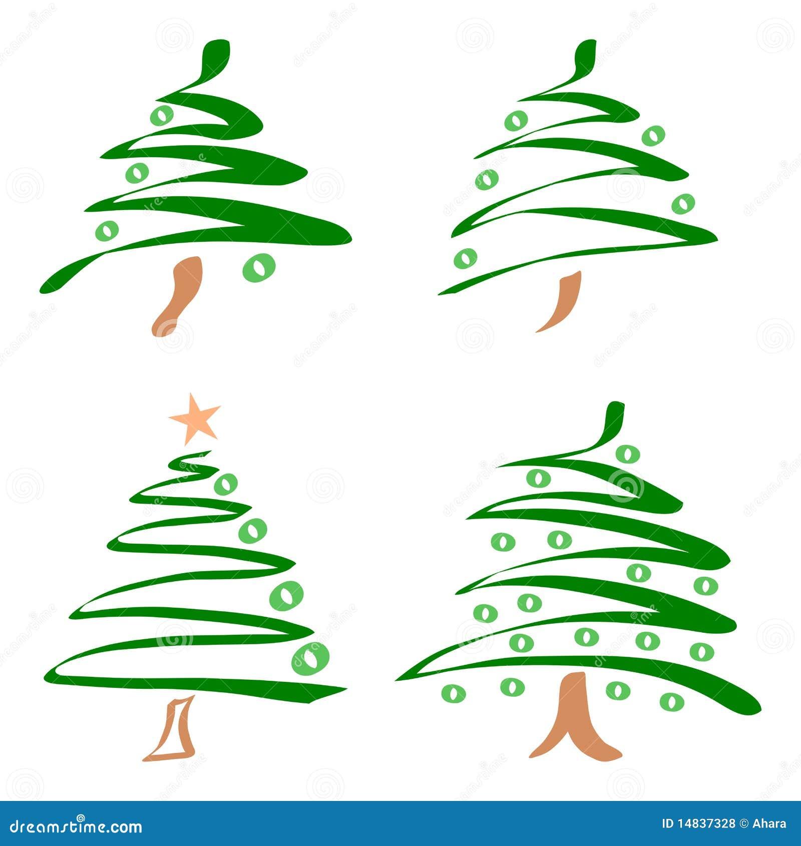 Conjunto de rboles de navidad vector ilustraci n del - Arbol tipico de navidad ...