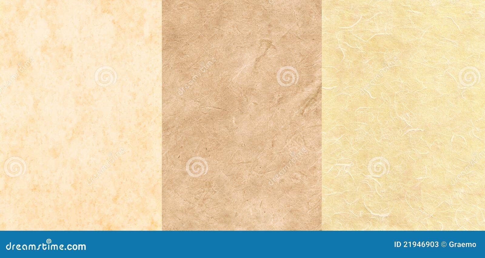 Conjunto de 3 texturas del pergamino