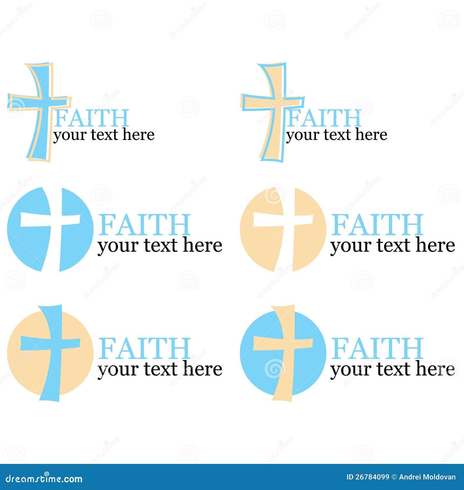 Conjunto de 6 insignias con tema cruzado/religioso