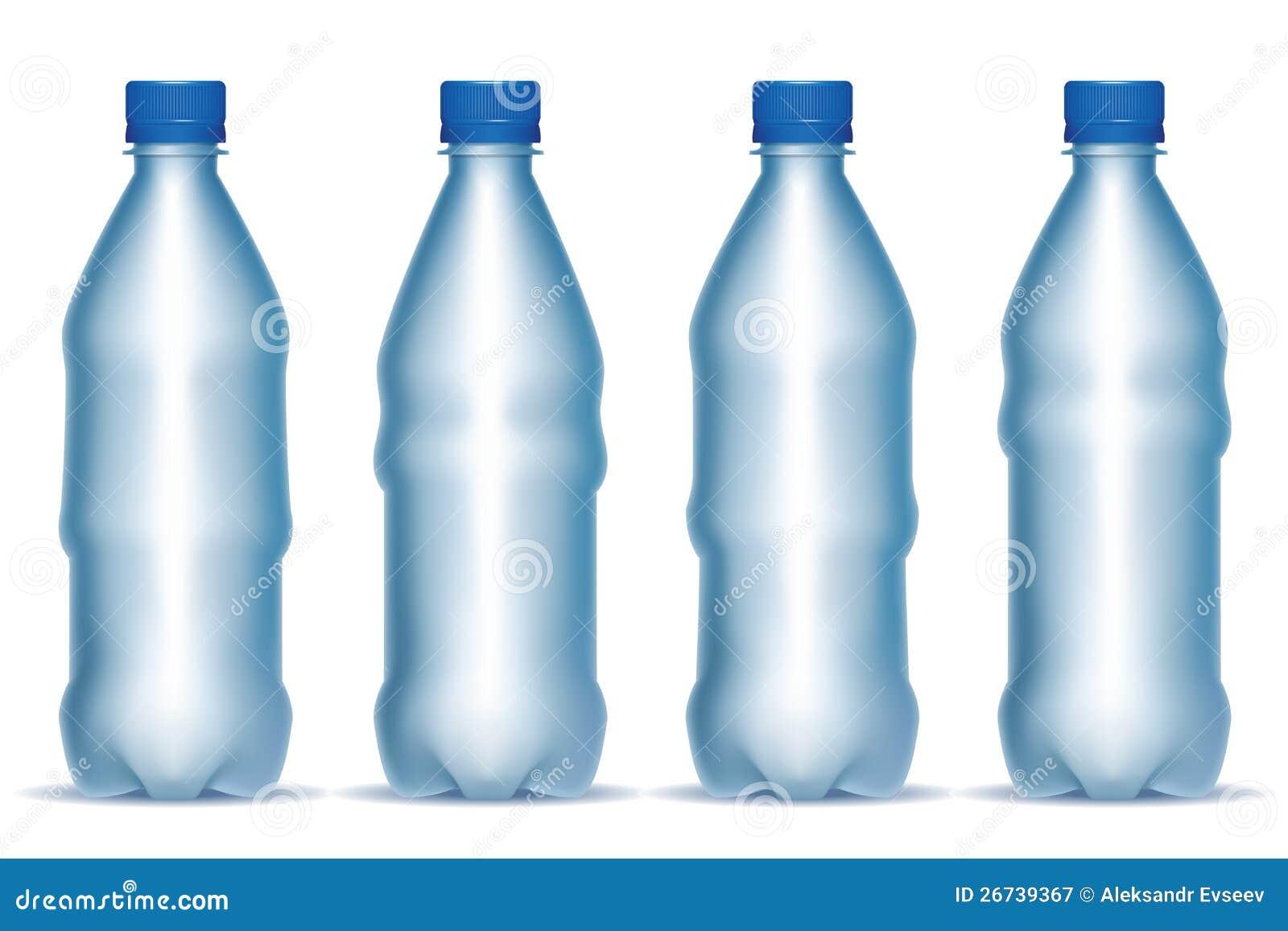 conjunto de botellas del plstico transparente fotografa de archivo libre de regalas
