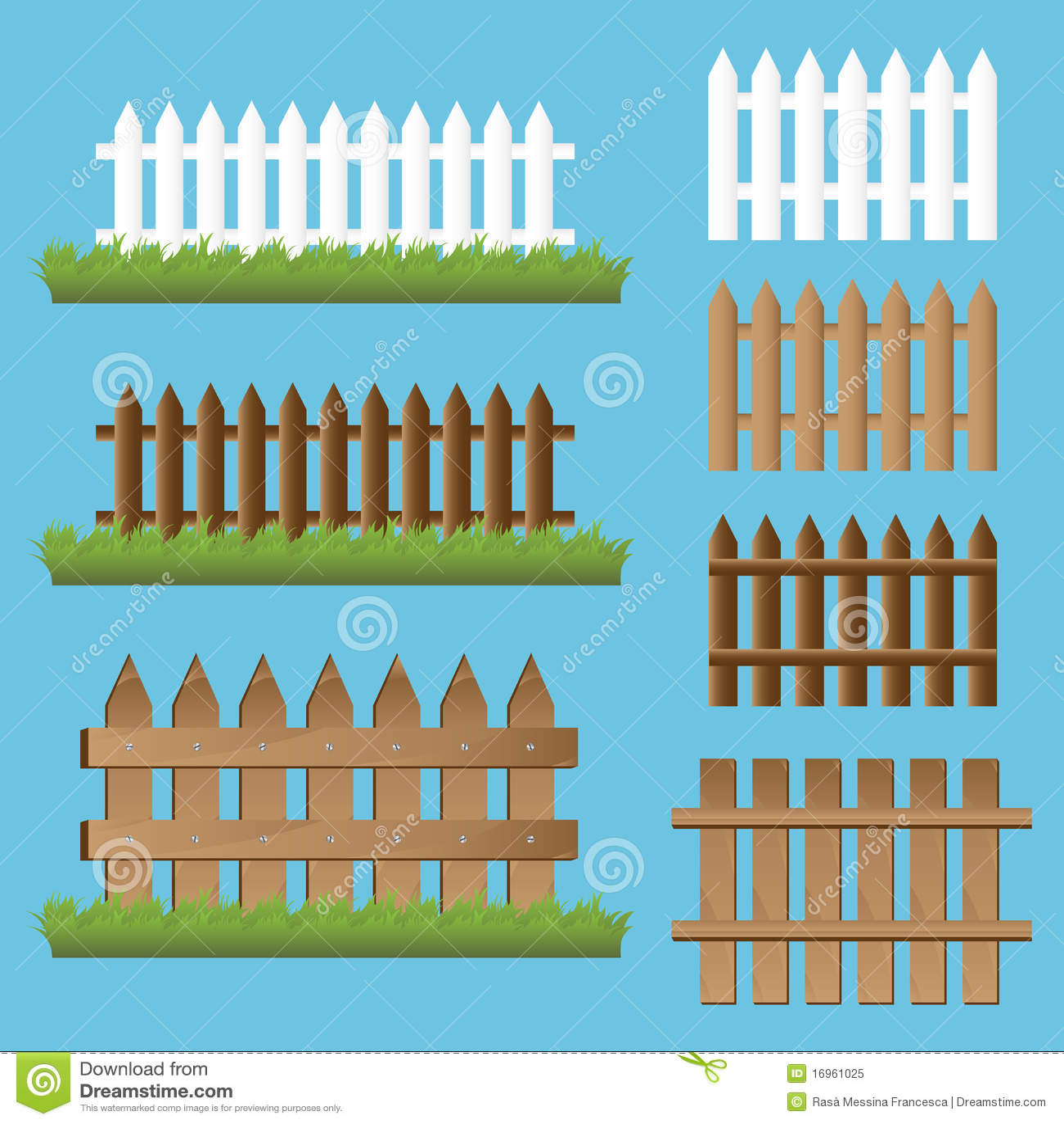 Conjunto de cercas de madera foto de archivo libre de for Conjuntos de jardin madera