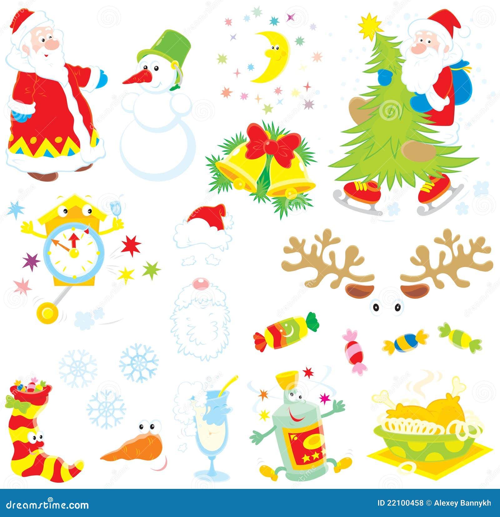 Conjunto de clip-artes de la Navidad