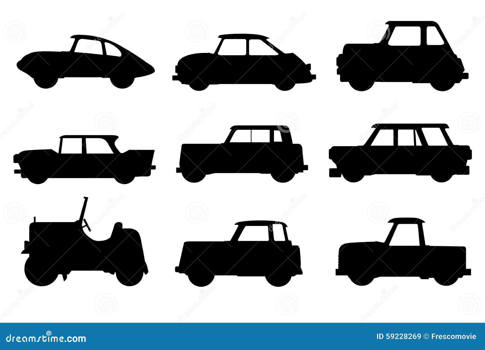 Download Conjunto de coches ilustración del vector. Ilustración de automóvil - 59228269