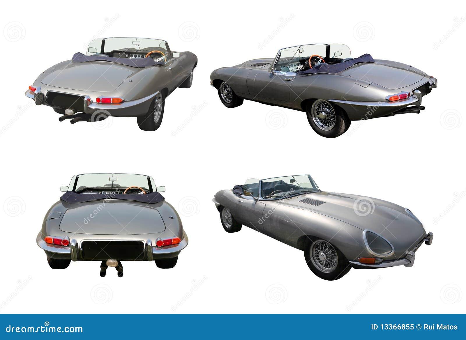 Conjunto de coches de deportes convertibles - E-Tipo del jaguar