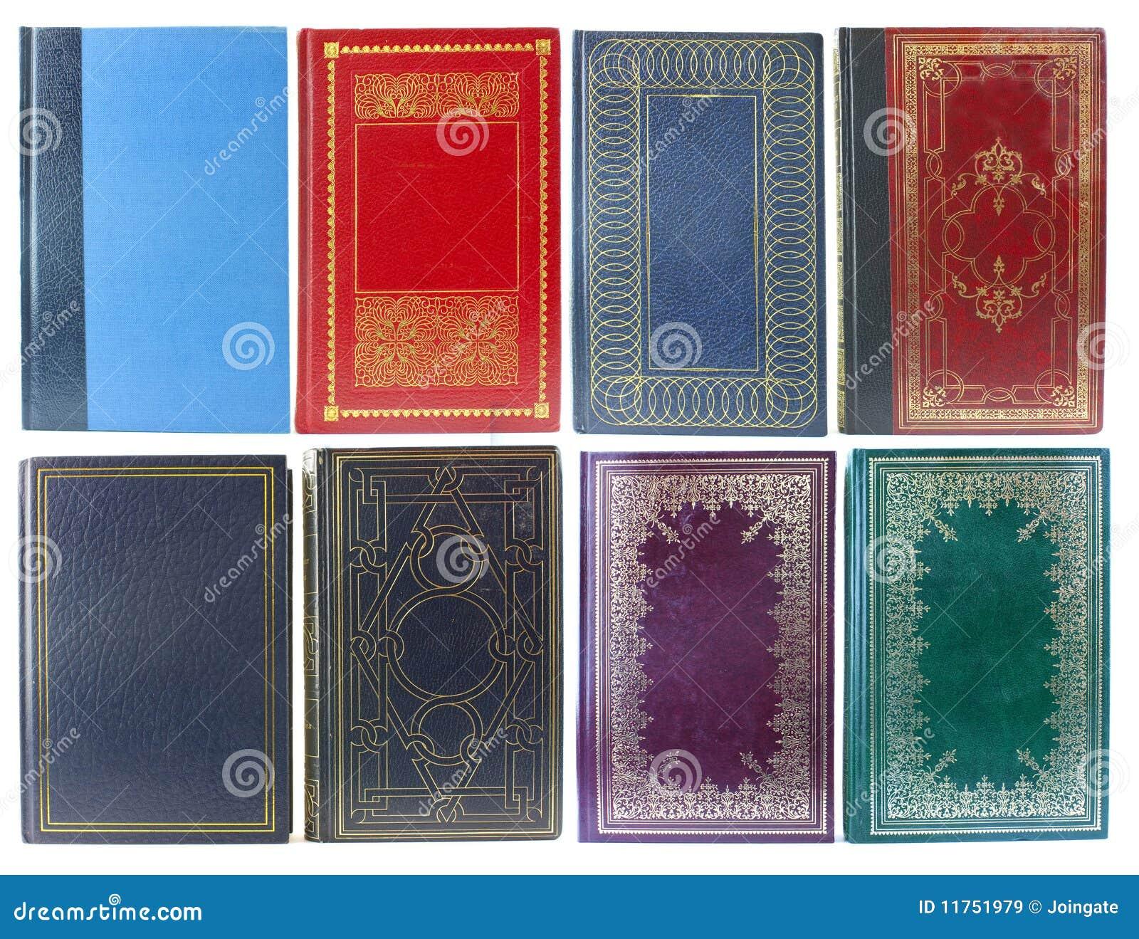 Conjunto de cubiertas de libro viejo
