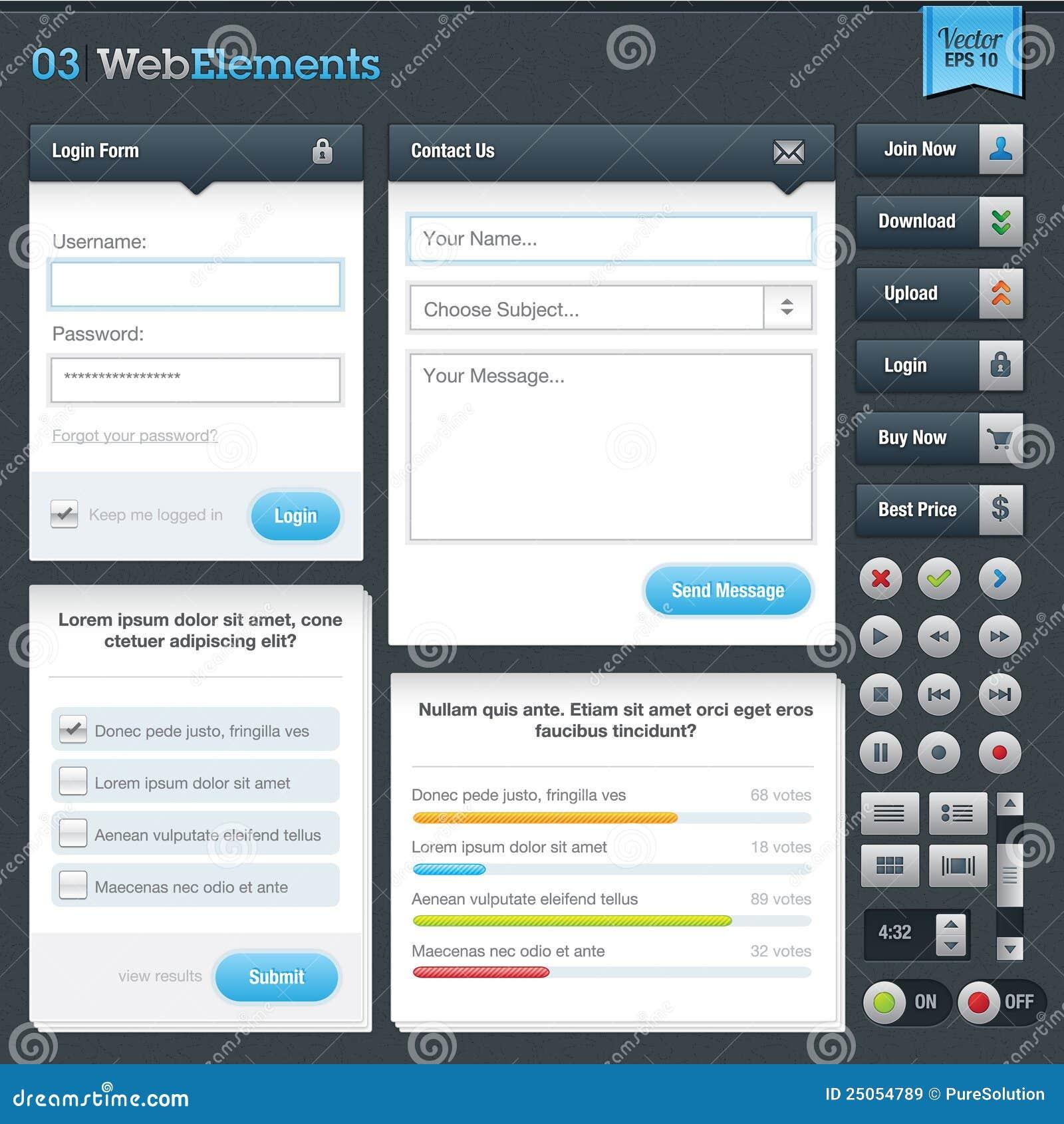 Conjunto de elementos del Web