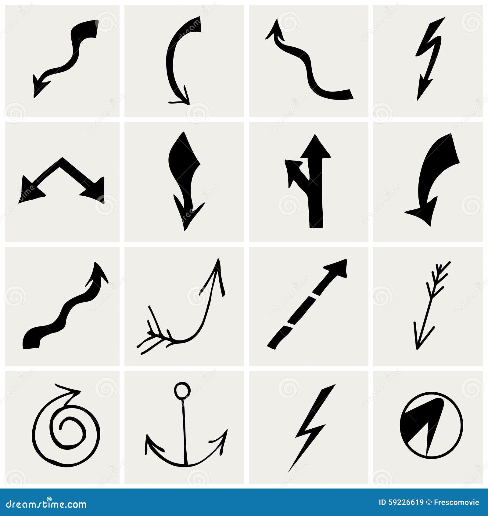 Download Conjunto de flechas ilustración del vector. Ilustración de ilustración - 59226619