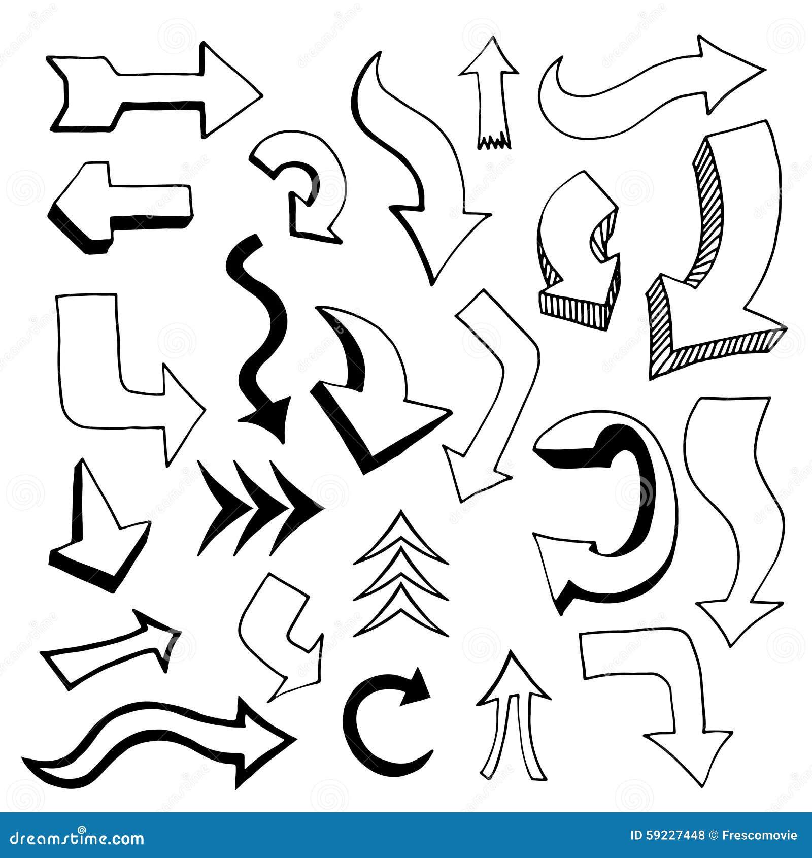 Download Conjunto de flechas ilustración del vector. Ilustración de icono - 59227448