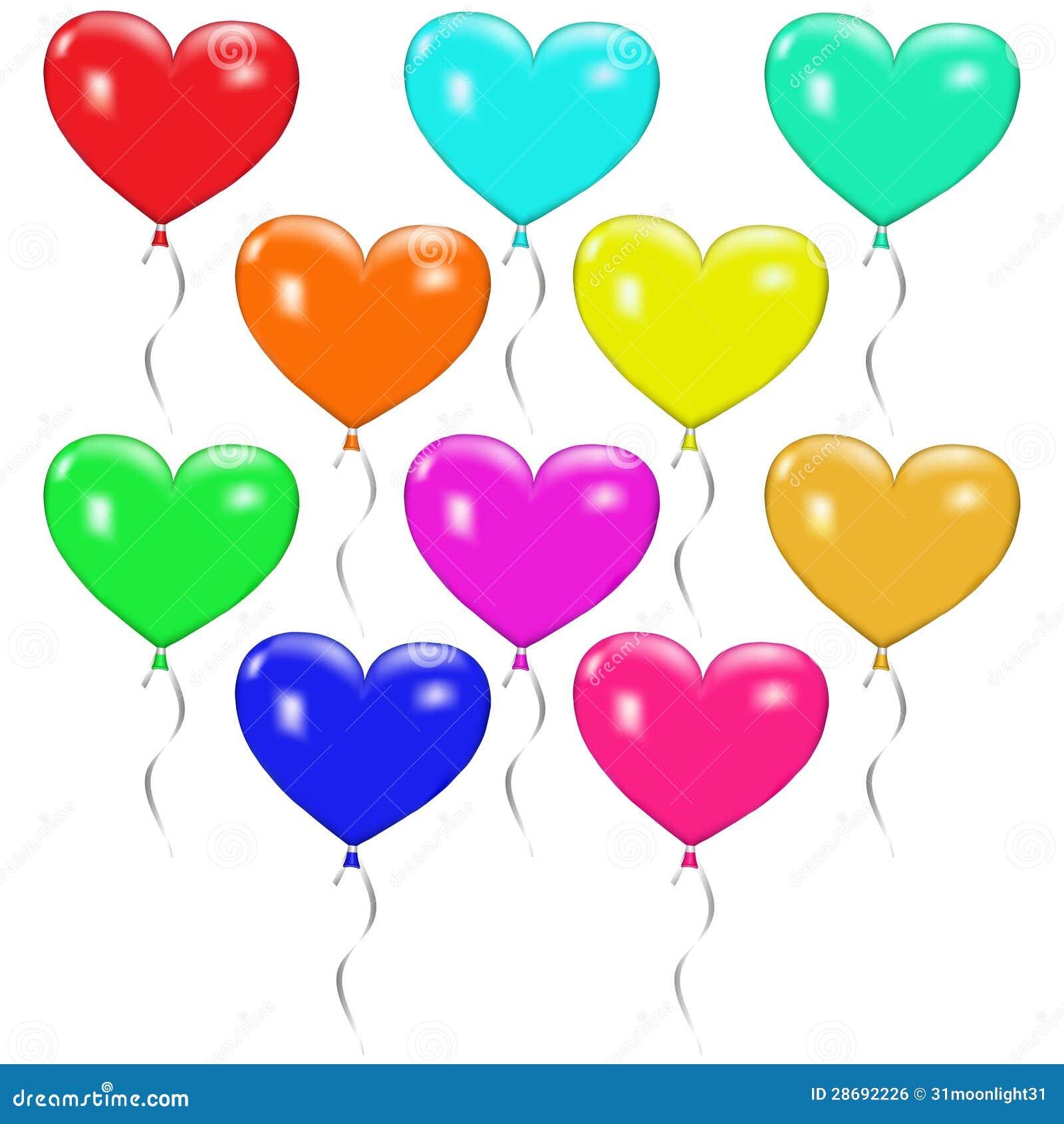 conjunto de globos coloridos bajo la forma de coraz u00f3n Modern Flower Heart Flower Heart Art