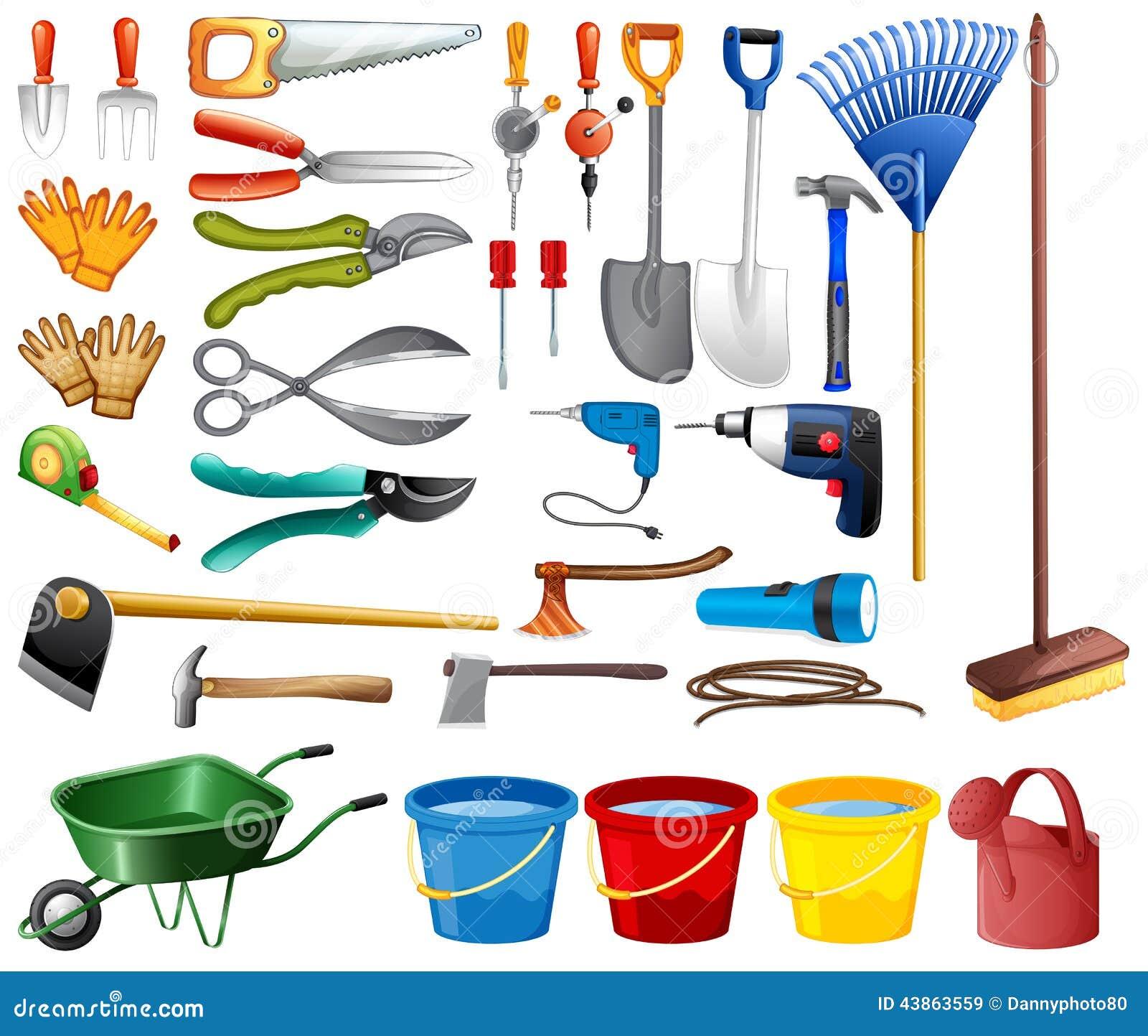Conjunto de herramientas ilustraci n del vector for Herramientas de campo