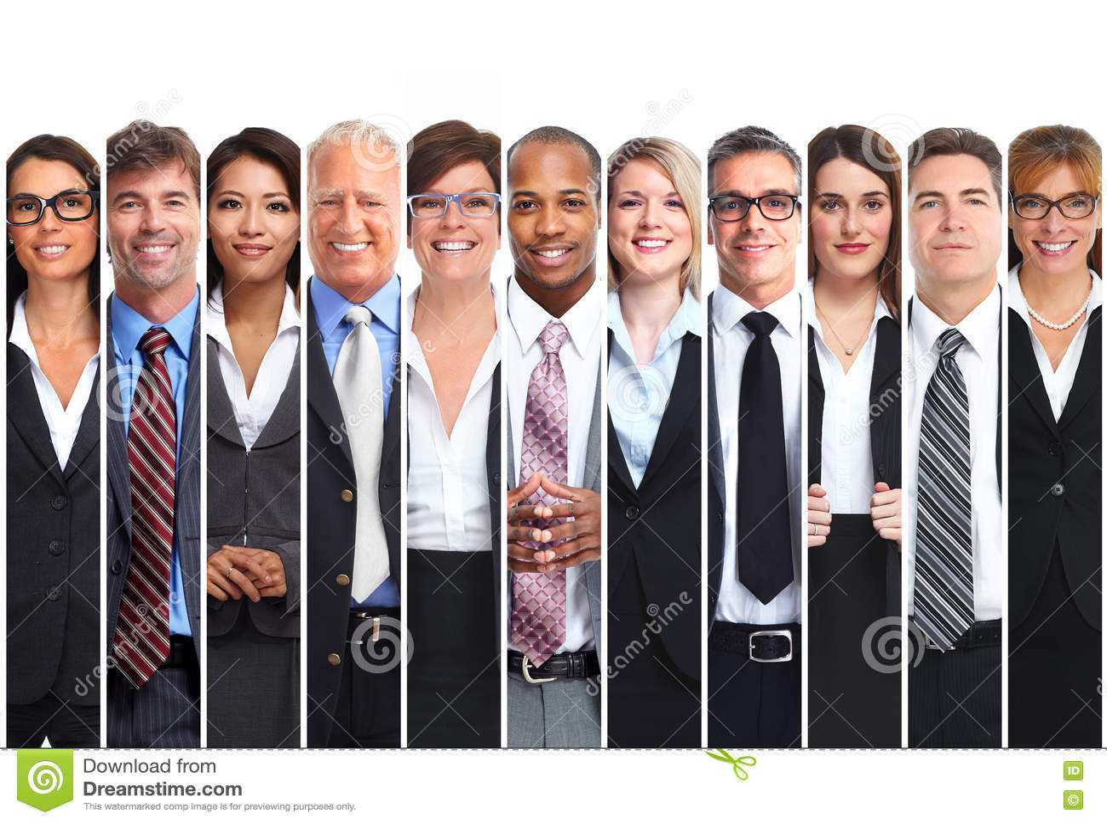 Conjunto de hombres de negocios
