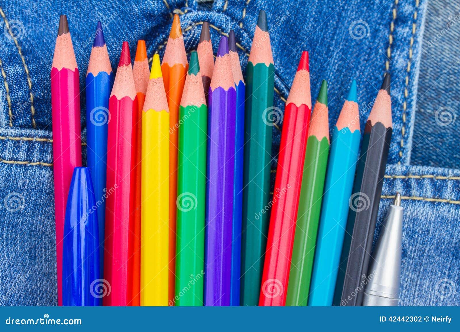Conjunto de lápices multicolores