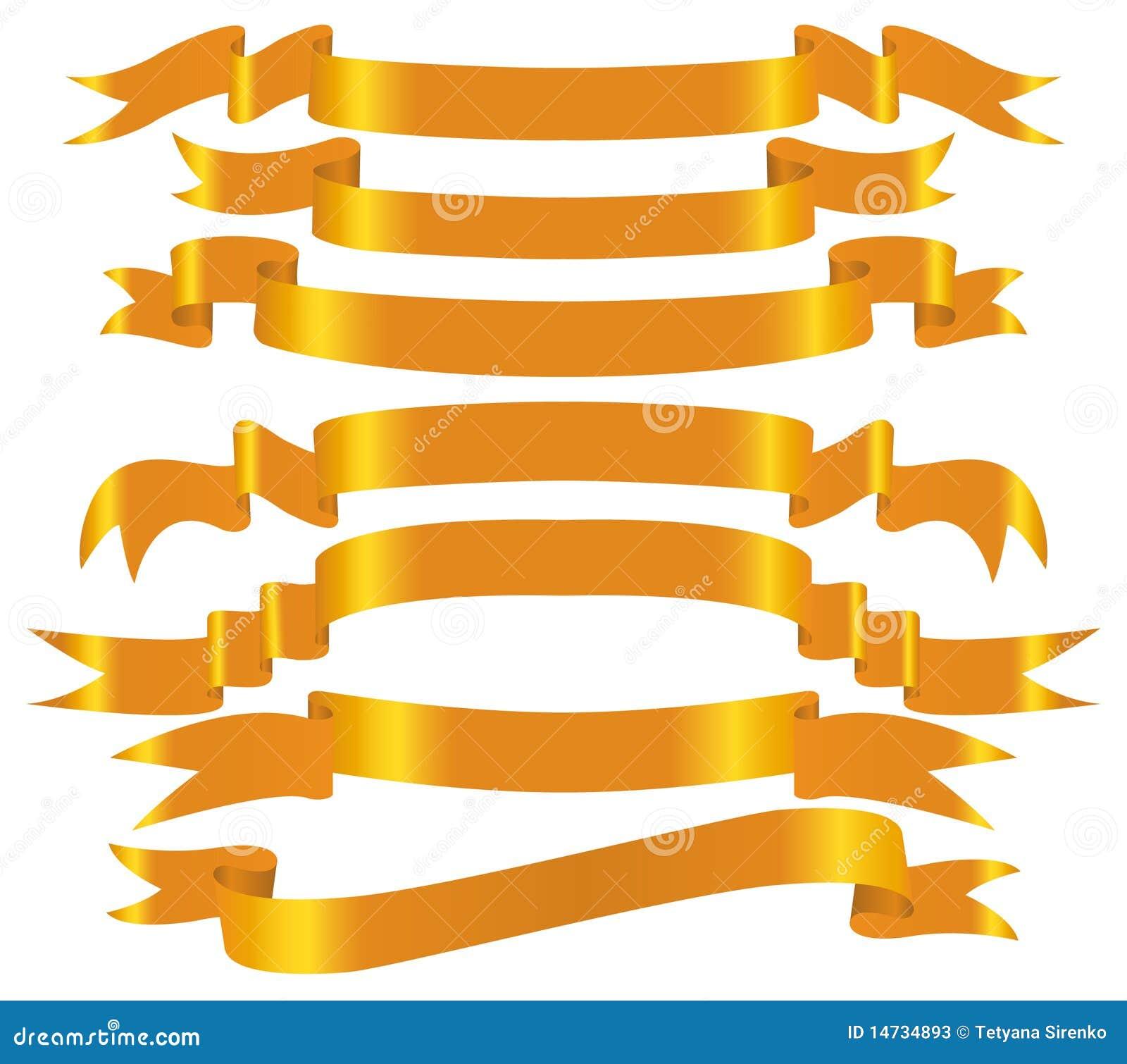 Conjunto de la bandera del oro del vector