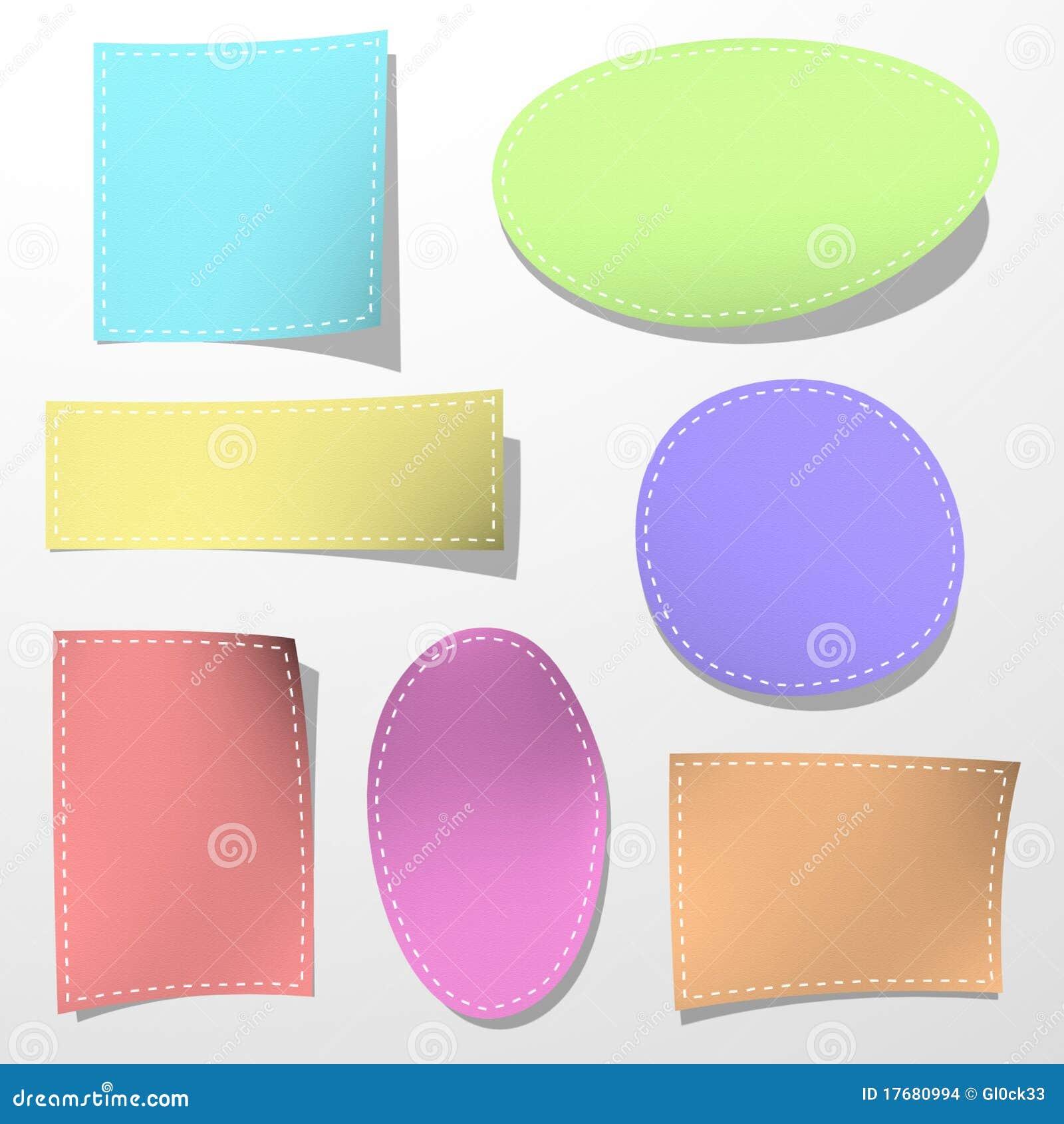 Conjunto de la etiqueta engomada del color