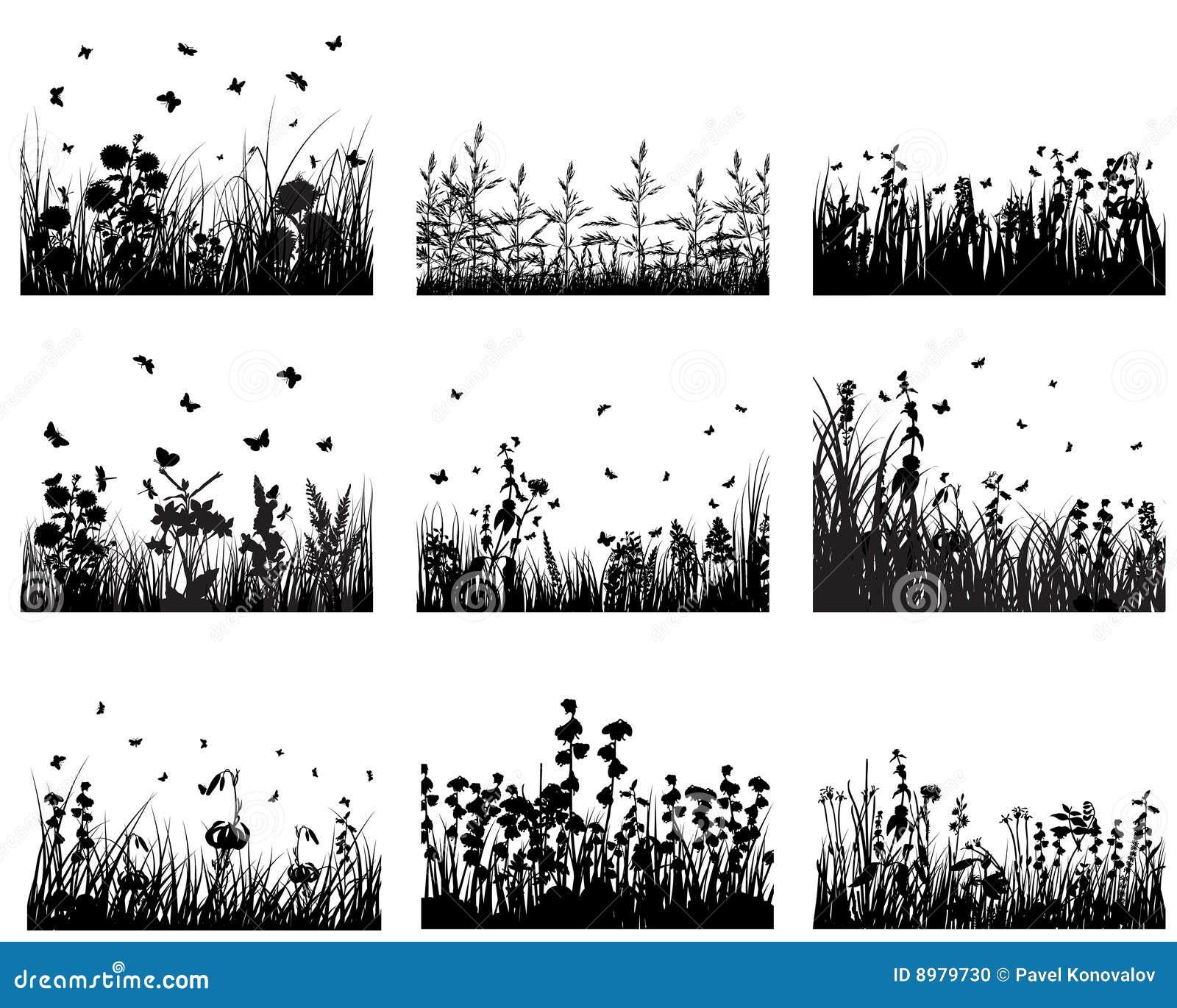 Conjunto de la hierba