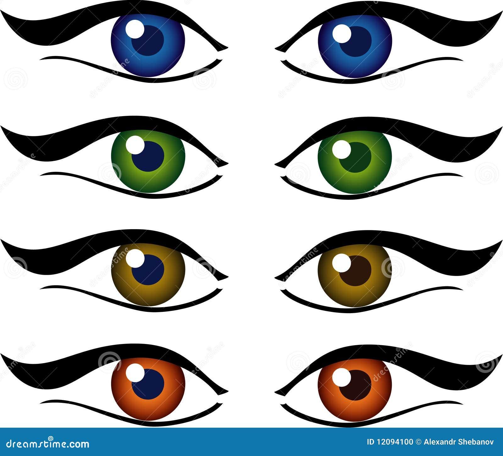 Conjunto de la ilustración de los ojos