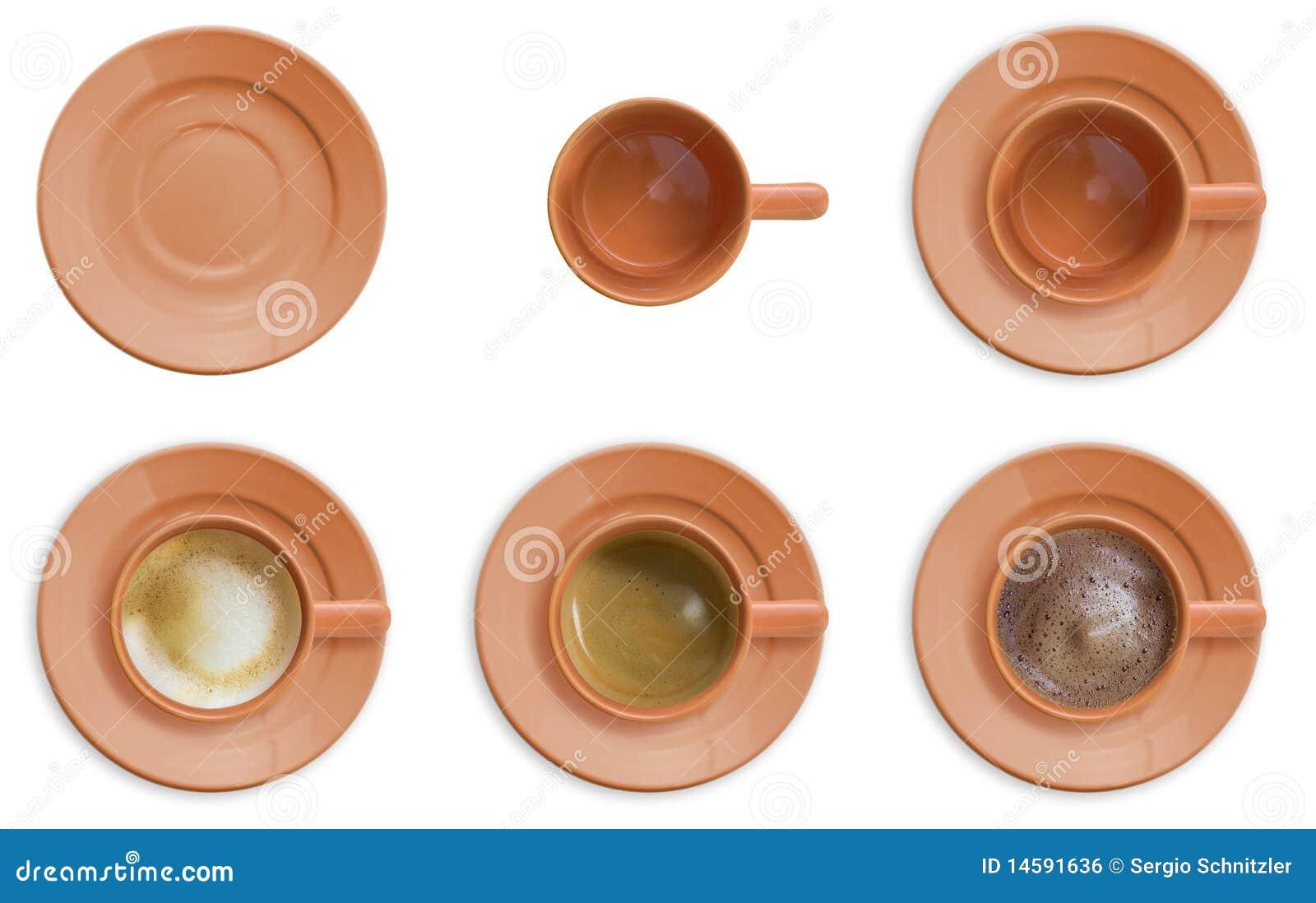 Conjunto de la taza de café