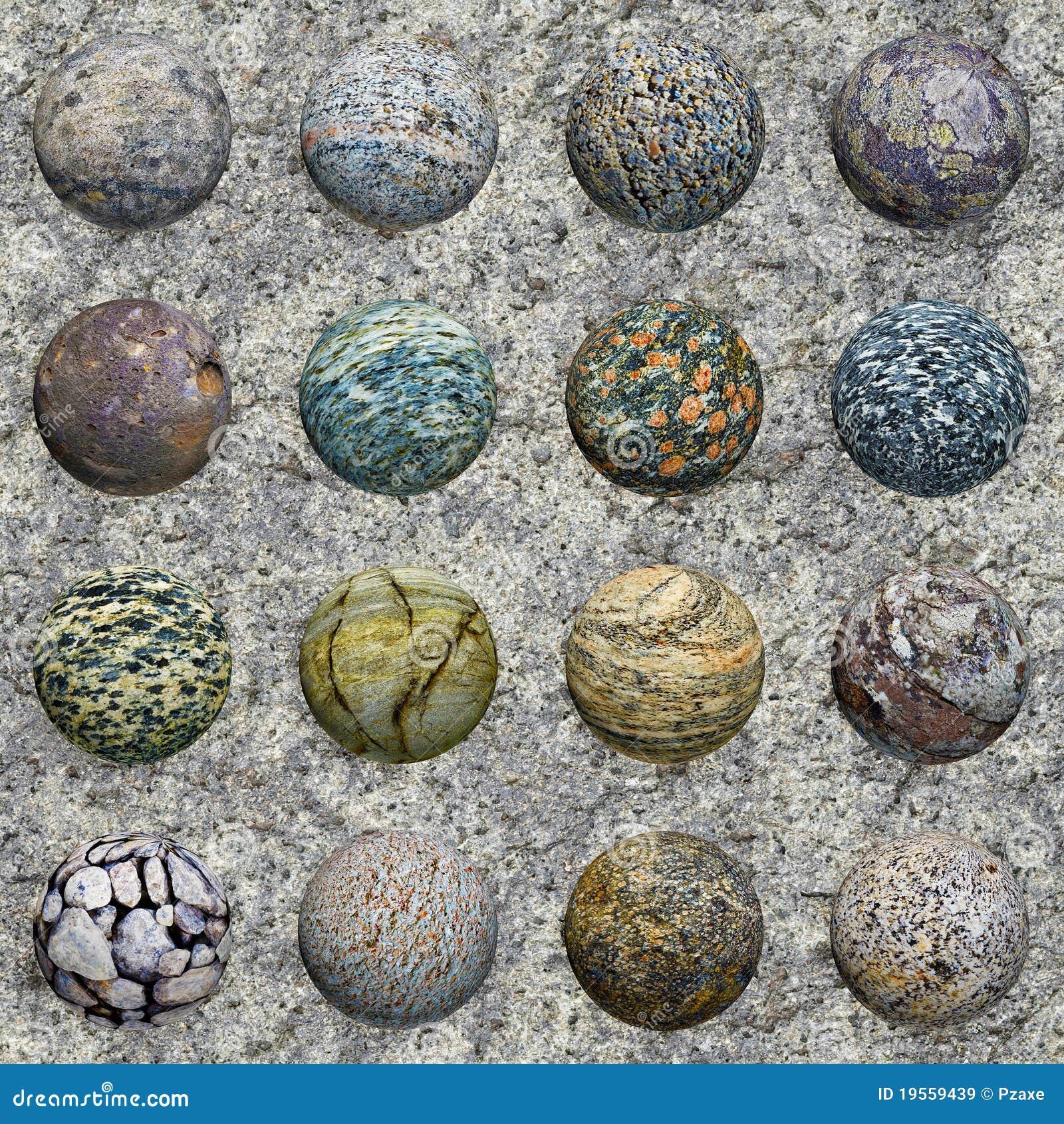 Conjunto de las bolas de piedra en el granito textura for Granito en piedra