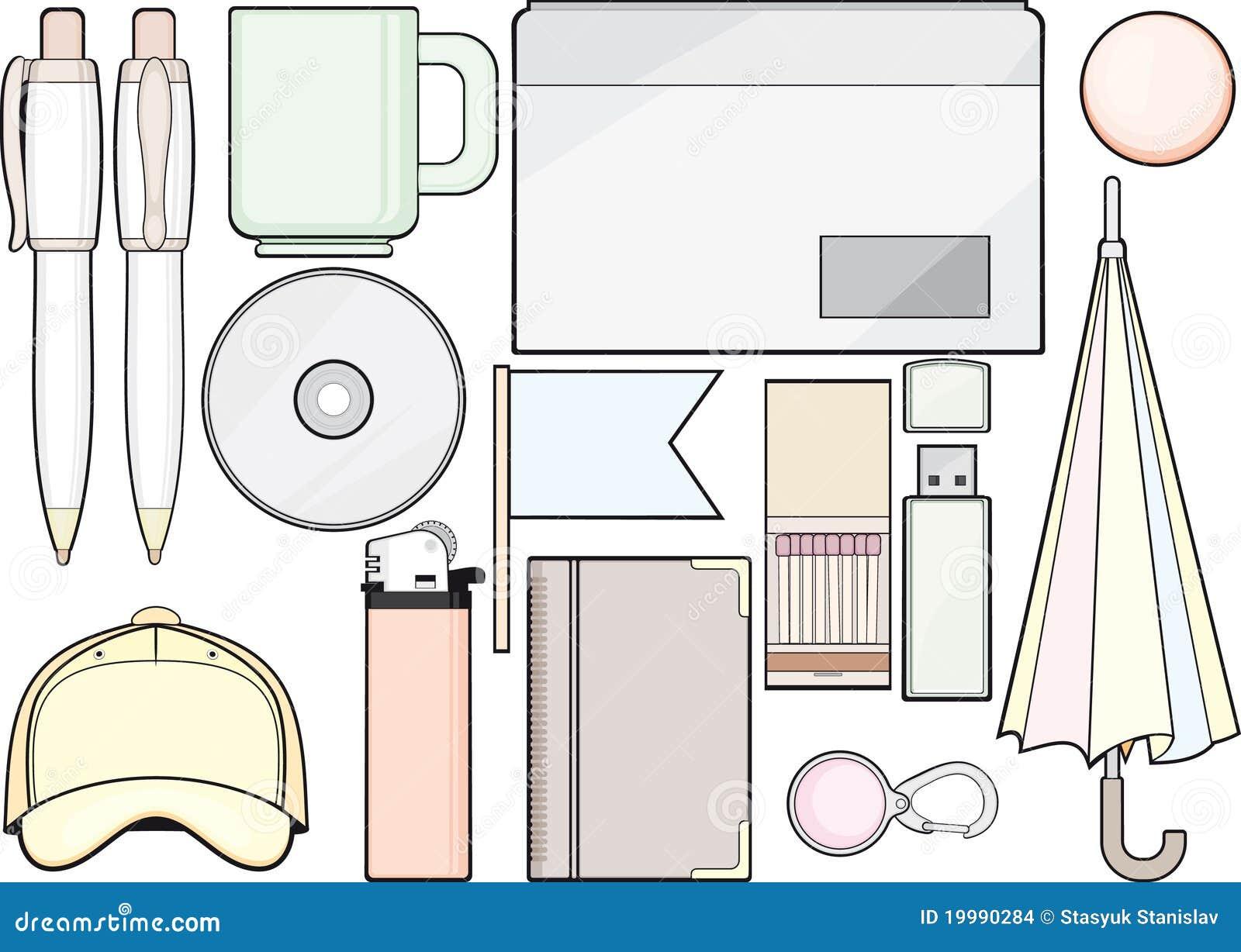 Conjunto de las fuentes y del modelo de oficina